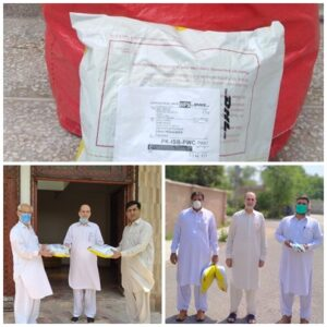 GZU China Donated Masks and Gloves to UoP, Pakistan